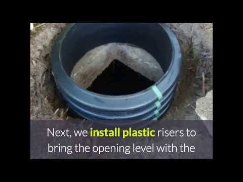 Installing Septic Tank Risers and Covers