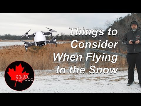 Flying Your Mavic Air in the Snow!  Where I went wrong!