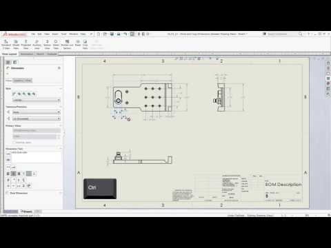 SOLIDWORKS Tech Tip - Move and Copy Dimensions Between Drawing Views