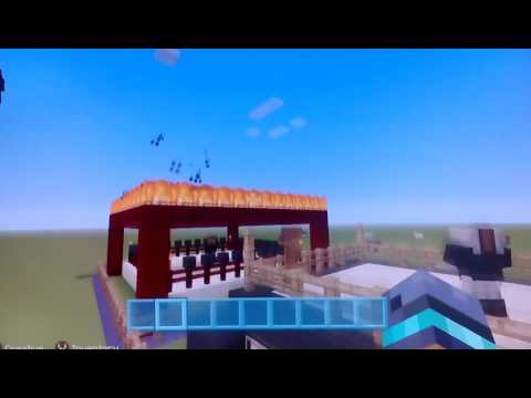 Minecraft quick build challenge.makig a boxing ring.