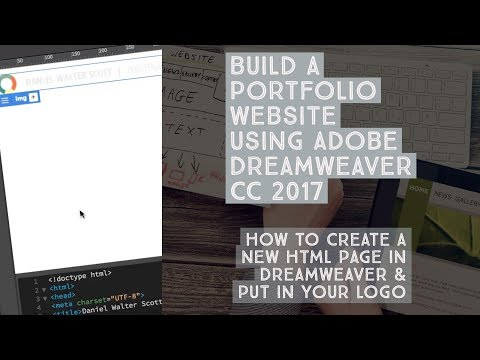 How to create a new HTML page in Dreamweaver & put in your logo - Dreamweaver Templates [5/38]