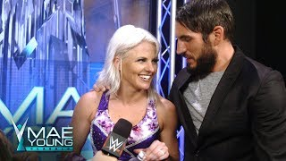 Candice LeRae receives a water assist from Johnny Gargano: Exclusive, Aug. 31, 2017