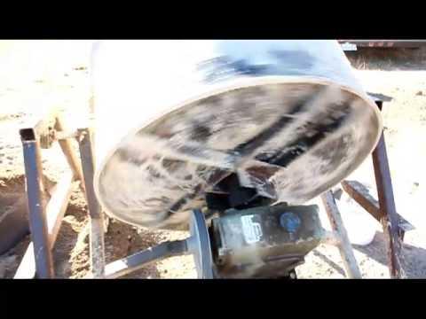 Homemade Cement Mixer - Offgrid