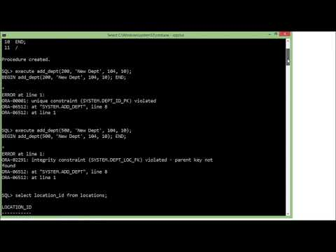 Oracle - PL/SQL - Creating Procedure