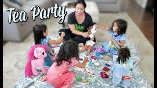 DIY TEA PARTY AT HOME! -  ItsJudysLife Vlogs