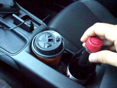 2011 Lexus CT200h Hybrid.  Cup Holder Review Video. Design Flaw?