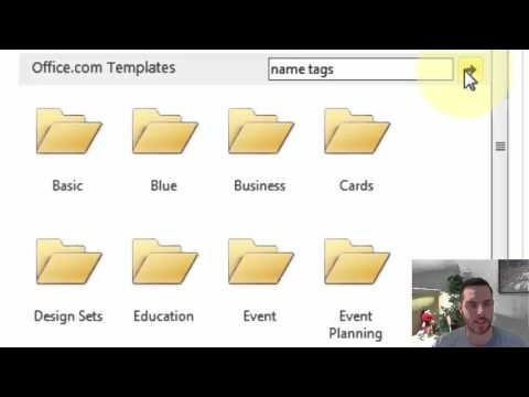 How to Make Name Tags in Microsoft Word