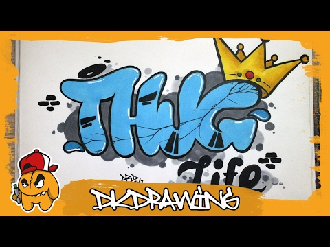How to draw Thug Life Graffiti Letters