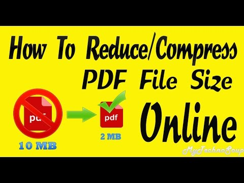 how to reduce PDF file size without losing quality - Online