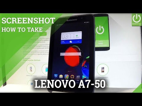 How to Take Screenshot in LENOVO A7-50 A3500-F - Capture Screen