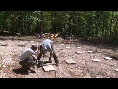How to build a frame house: Foundation