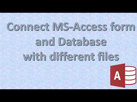connect form to table Ms-Access