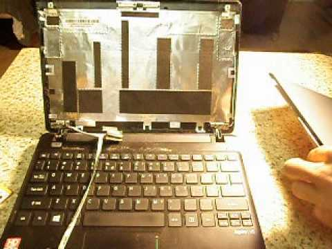 Laptop screen replacement / How to replace laptop screen Acer Aspire V5 - 121- 0452