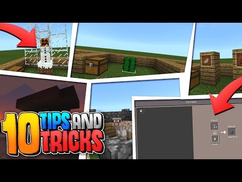 10 TIPS and TRICKS for SURVIVAL!! - Minecraft PE (Pocket Edition)