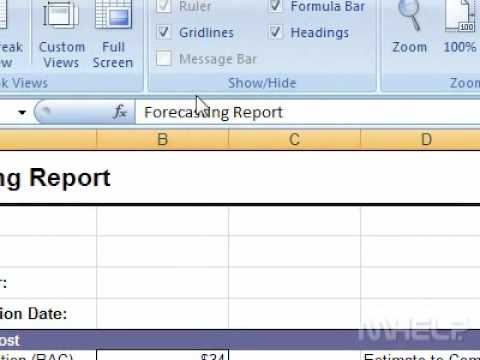 How to show or hide the gridlines in a workbook Excel