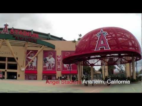 Angel Stadium of Anaheim [California, U.S.A] Angels Baseball Team Headquarters!