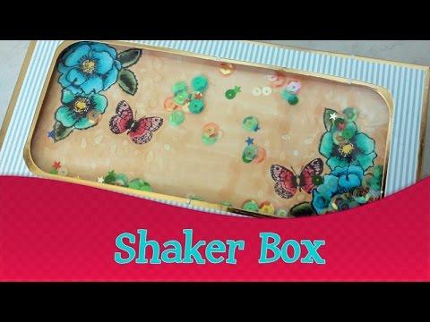 Shaker Box - em português | Quinta das Técnicas de Scrapbook