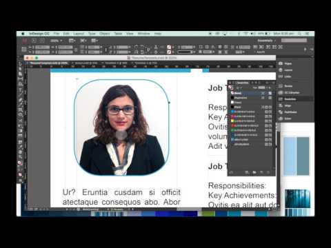 How to make a resume template in InDesign