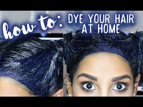 How To: Dye Your Hair At Home (BLUE BLACK)