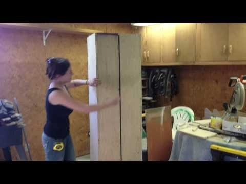 DIY Rolling Storage Cabinet