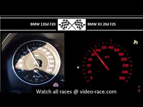 BMW 120d F20 VS. BMW X3 20d F25 - Acceleration 0-100km/h