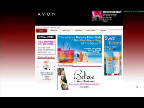 How to sell Avon online