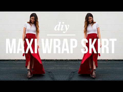 Long Maxi Wrap Skirt