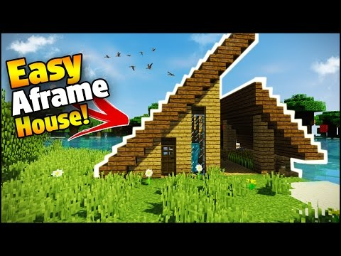 Minecraft: Easy A-Frame House Tutorial - How to Build a House in Minecraft