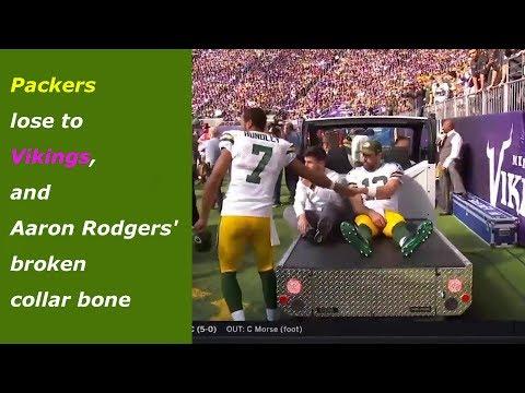 Packers lose to Vikings, and Aaron Rodgers broken collar bone