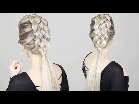 HOW TO: 5 STRAND BRAID Tutorial | Long Medium Length Hairstyles