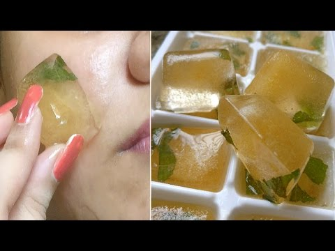 Green Tea Icecubes Removes Suntan, pimples,acne, Skin whitening, dark spots, blemishes