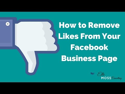 How to Remove Likes  From FB Biz Page