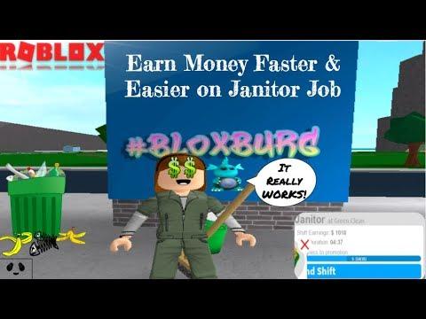 Earn Money FASTER & EASIER on BLOXBURG Janitor Job (NO HACK!)