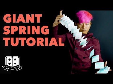 Cardistry for Beginners: Aerials & Drops - Giant Spring Tutorial