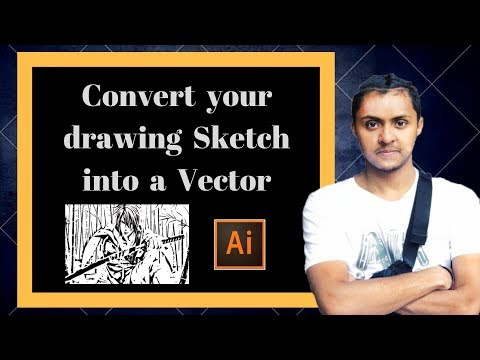 How to convert your drawing sketch into a vector using Adobe illustrator CC 2015