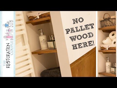 Reclaimed Pine Shelving for the Bathroom