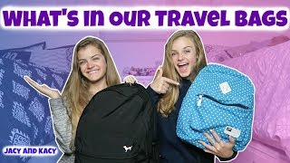 What's In Our Travel Bags ~ Jacy and Kacy
