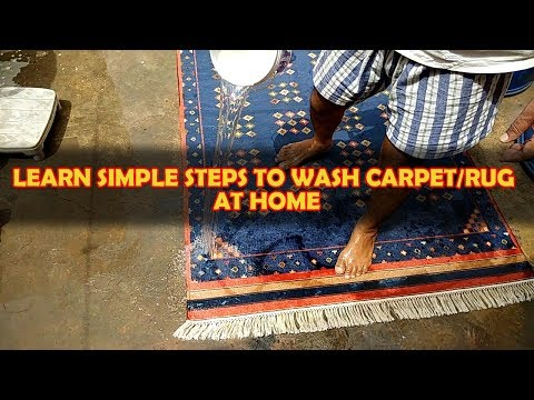 Dari/Carpet/Rug   How To Wash At Home In Hindi   Radhe Radhe Drycleaners  