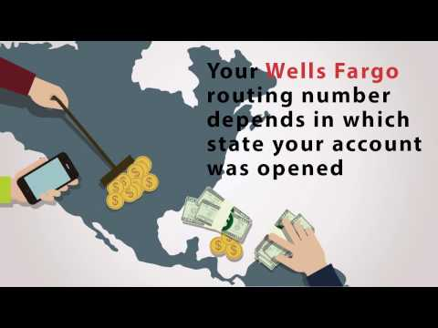 Wells Fargo routing numbers for California, Vermont and Illinois