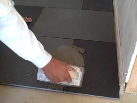 How to grout slate tiles