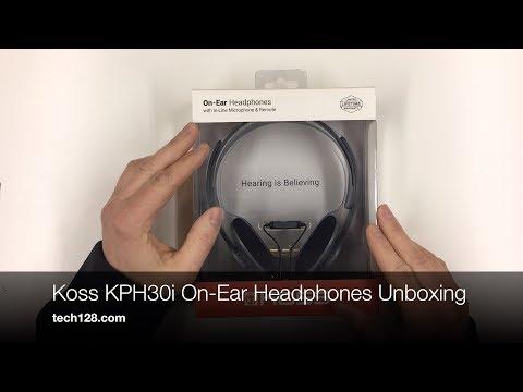 Koss KPH30i On-Ear Headphones Unboxing