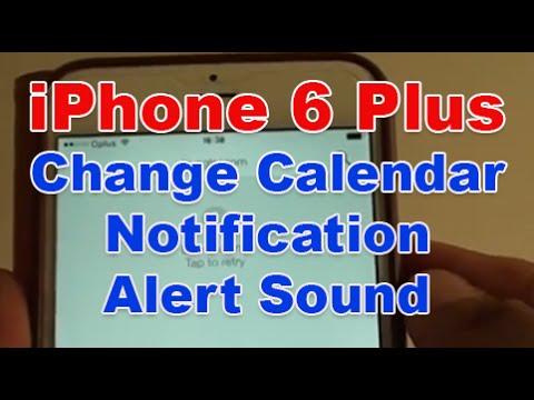iPhone 6 Plus: How to Change Calendar Notification Alert Sound