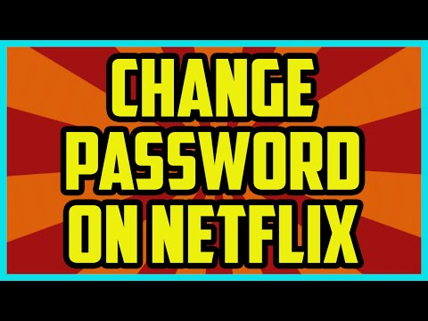 HOW TO CHANGE YOUR NETFLIX PASSWORD 2017 - Netflix Password Change Computer Tutorial