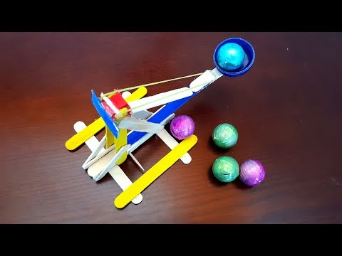 How to Make Catapult at Home out of Popsicle Sticks Easily!