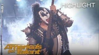 """KISS Performs """"Detroit Rock City"""" on AGT - America"""