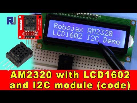 AM2320 Digital Temperature and Humidity Sensor with LCD1602 and I2C (code)