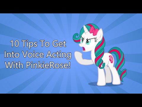 10 Tips to Get Into Voice Acting (Feat. PinkieRose)