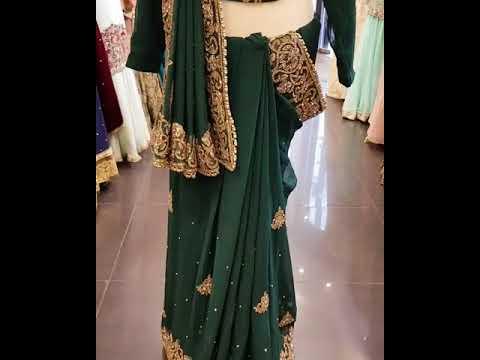 Green Designer Saree / Sari