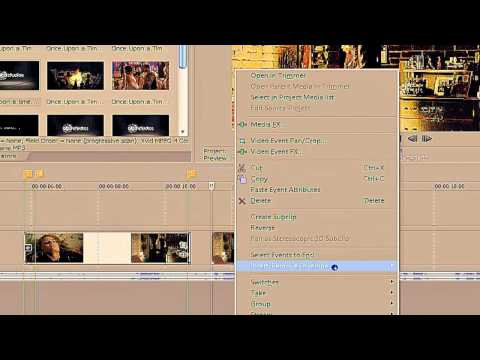 Sony Vegas Pro || How to reverse, spin up, spin down a clip (Reupload, better quality)