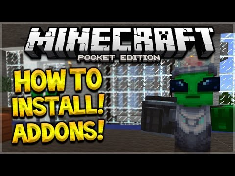 MCPE ADDONS TUTORIAL!! Minecraft Pocket Edition 0.16.0 - How To Install Addons Maps Guide